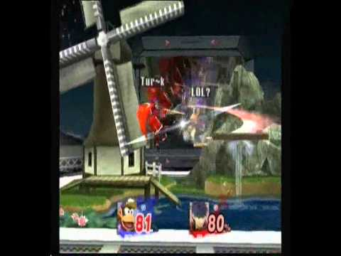 SSBB Wifi Flint(Ike) vs Roxes(Diddy Kong) Best of 05