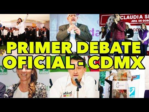 PRIMER DEBATE OFICIAL - Candidatos a la Jefatura de la CDMX - Juca Noticias