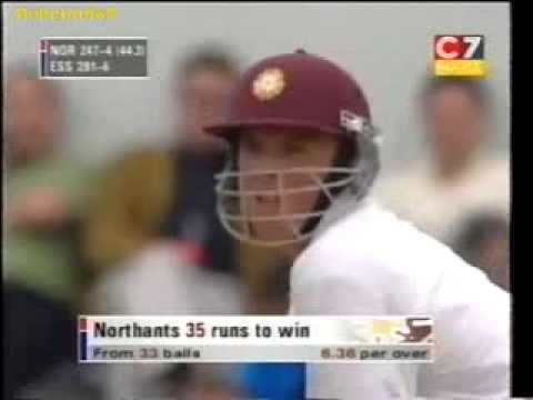Very young Graeme Swann 30 off 13 balls for Northants, plus early off spin footage