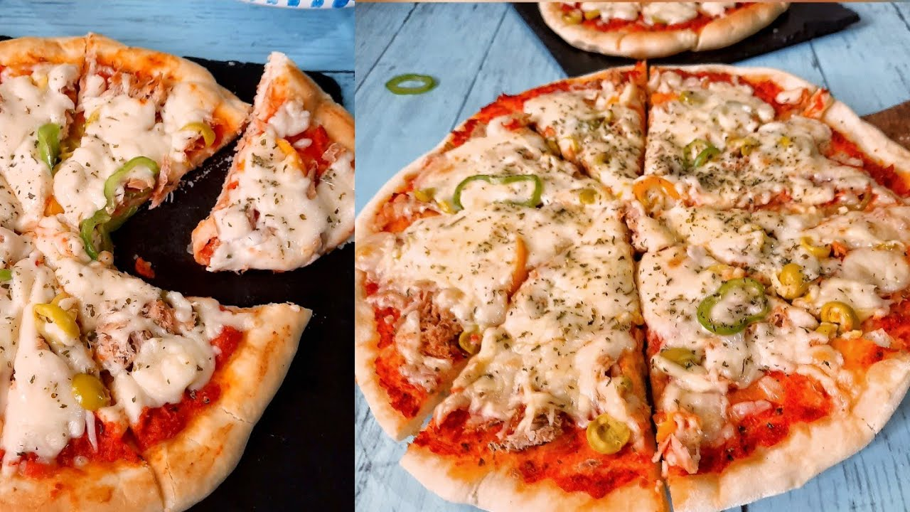 Pizza recette très facile🍕 بيتزا ساهلة و بنييينة