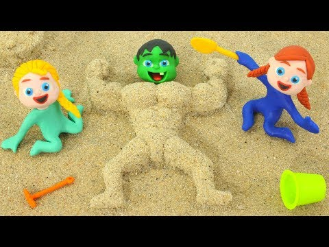 BABY HULK BECOMES MUSCLE MAN 鉂� Superhero & Frozen Elsa Play Doh Cartoons For Kids