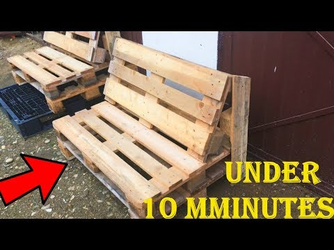 Hot To Make PALLET BENCH Under 10 Minutes 2019 - Without Finishing And Painted