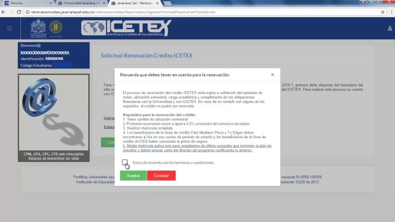 descargar factura icetex 2019