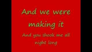 You Shook Me All Night Long with lyrics