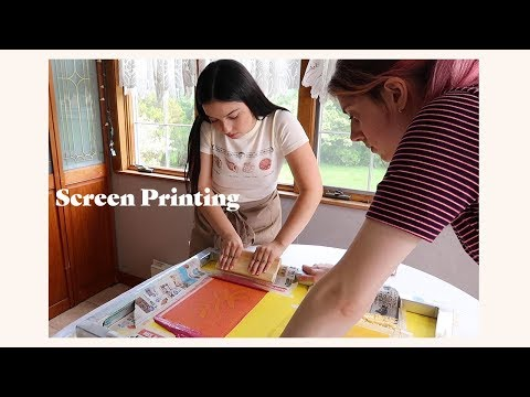 My Screen Printing Process