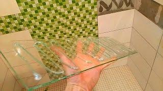 СКОРОСТНАЯ укладка мозаичного фриза при помощи стекла(быстрый способ укладки бордюра из мозаики!!! мозаика и плитка имеет разную толщину, по этому я использую..., 2016-09-25T14:54:48.000Z)