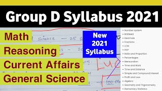 Group D Syllabus 2021 - RRB Group D exam Pattern 2021   Railways Group D Syllabus   Success Keys