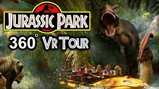 vuclip [5K] JURASSIC PARK THE RIDE IN VR!!!