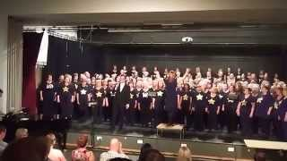 "Chester Rock Choir sings ""Stay with me "" at the Birkenhead Academy"