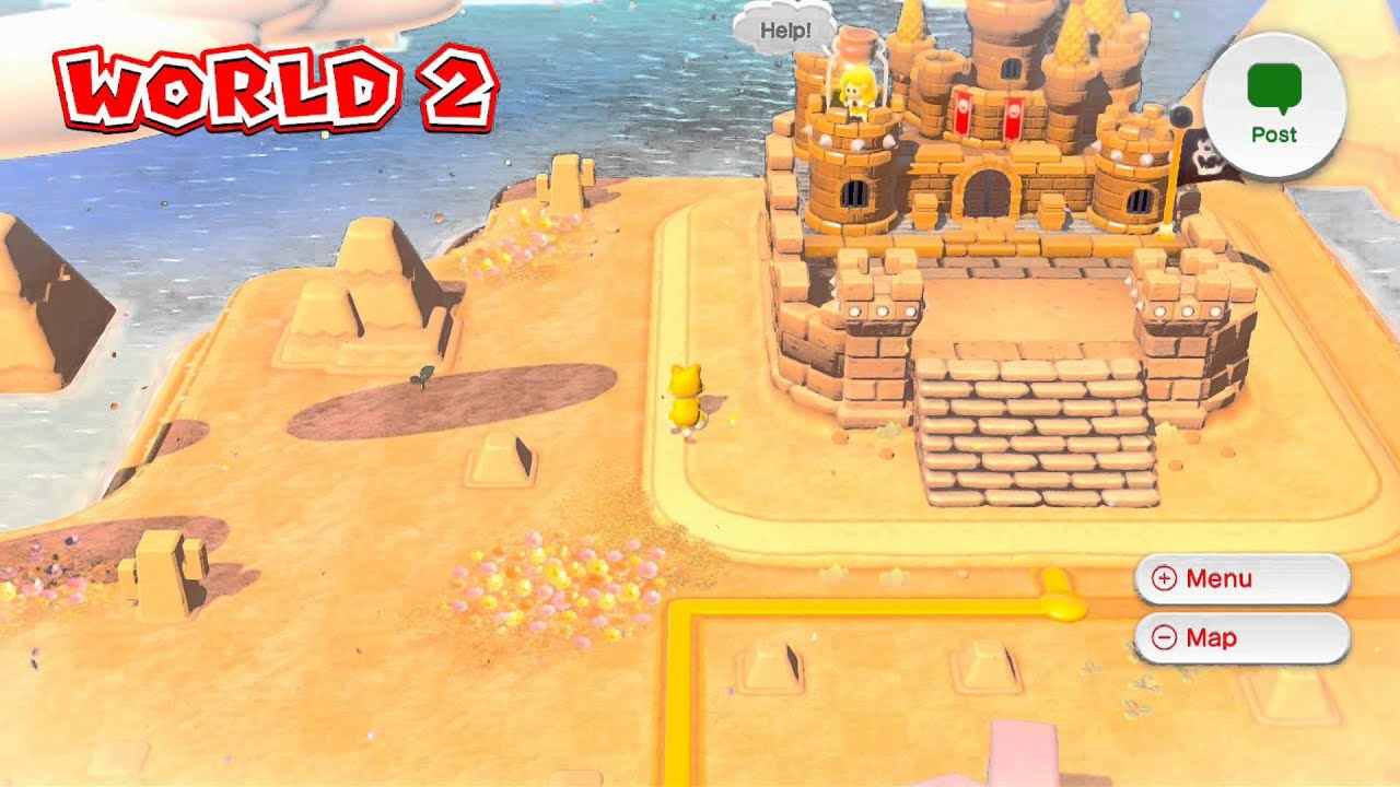 Super mario 3d world world 2 map gameplay youtube gumiabroncs Image collections