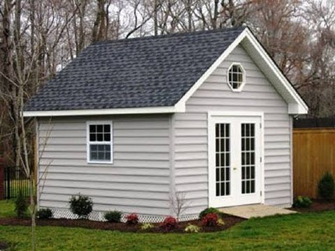 & 8X10 Gable Storage Shed Plans u0026 Blueprints - YouTube