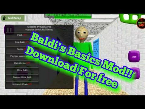 Baldi's Basics apk mod (Null Zerep)  #Smartphone #Android