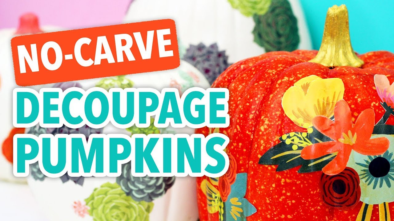 No,Carve Decoupage Pumpkins , HGTV Handmade