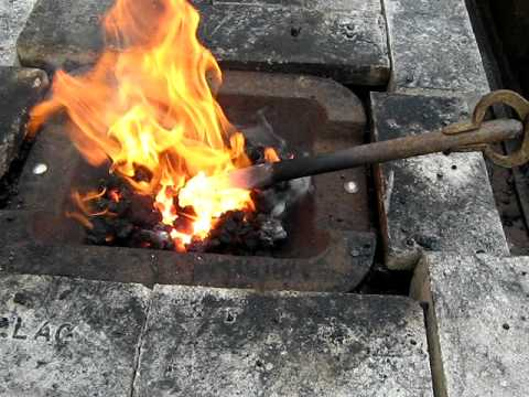 champion forge blower. champion no. 408 blacksmith forge demo. champion forge blower