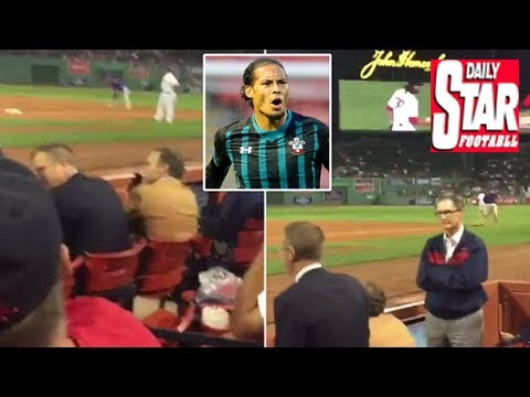 Liverpool owner john w henry gets heckled at boston red sox game