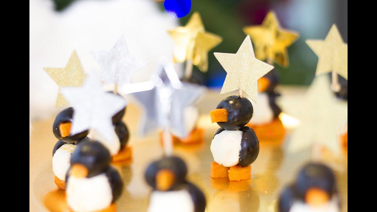 facile r aliser des pingouins pour l 39 ap ritif de no l youtube. Black Bedroom Furniture Sets. Home Design Ideas
