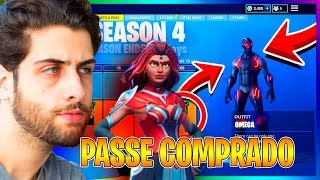 I BOUGHT the BATTLE PASS 4 and SAW ALL NEW SKINS-Fortnite Battle Royale