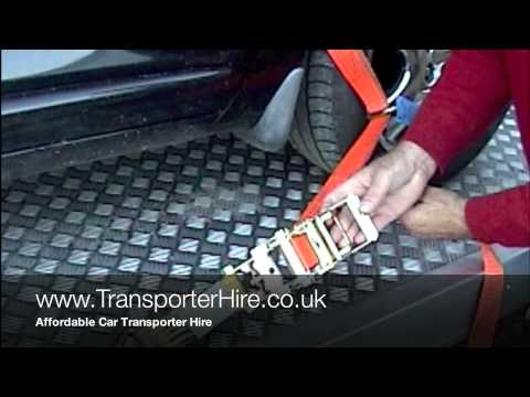 How to secure your car on a transporter