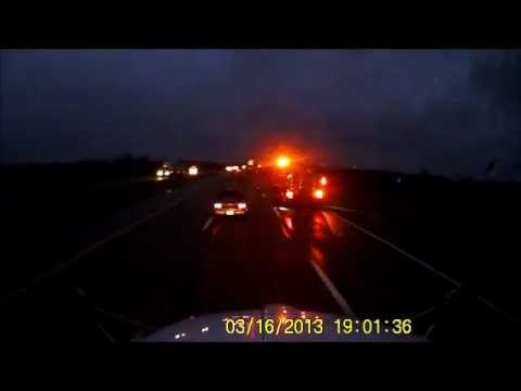 ohio turnpike worker cuts off traffic