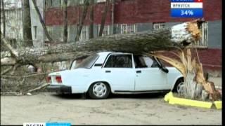 Мощный ураган прошел по Иркутской области,