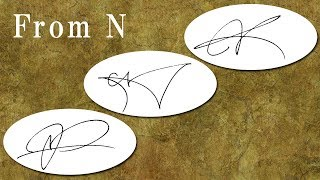 """How to draw the impressive signatures beginning with """"N""""! - 1 -"""