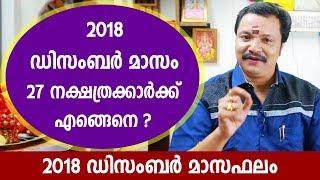 2018 ഡിസംബർ മാസം നിങ്ങൾക്കെങ്ങെനെ? | 9446141155 | Monthly Astrological Predictions in Malayalam