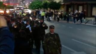 Ziua Armatei Romaniei - Retragere cu torte, Bucuresti 2016
