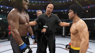 Bruce Lee vs Wolfman (Werewolf) - EA Sports UFC 2
