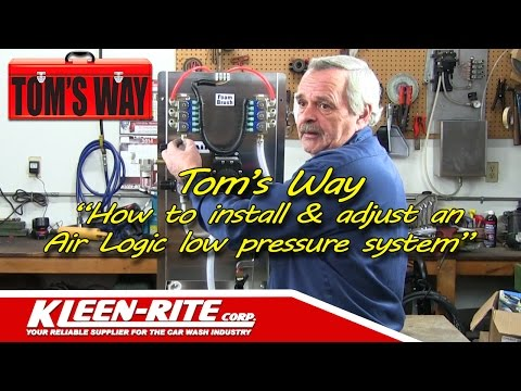 How To Install An Air Logic Low Pressure Self-Serve Car Wash Equipment System