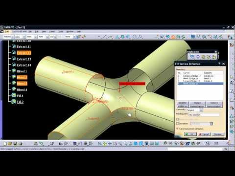 Video Tutorial on Modeling Pipe Joint in CATIA