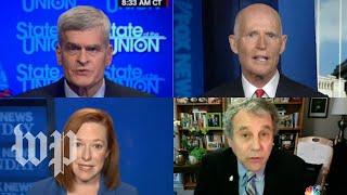 GOP senators slam stimulus package as Democrats praise the plan