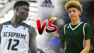 EVERY LAMELO BALL AND ZION WILLIAMSON HIGHLIGHT: LAMELO VS ZION