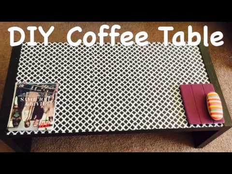 DIY Coffee Table Under $5   Furniture Makeover