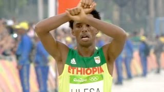 Feyisa Lilesa just made the biggest sacrifice by showing the sign of resistance