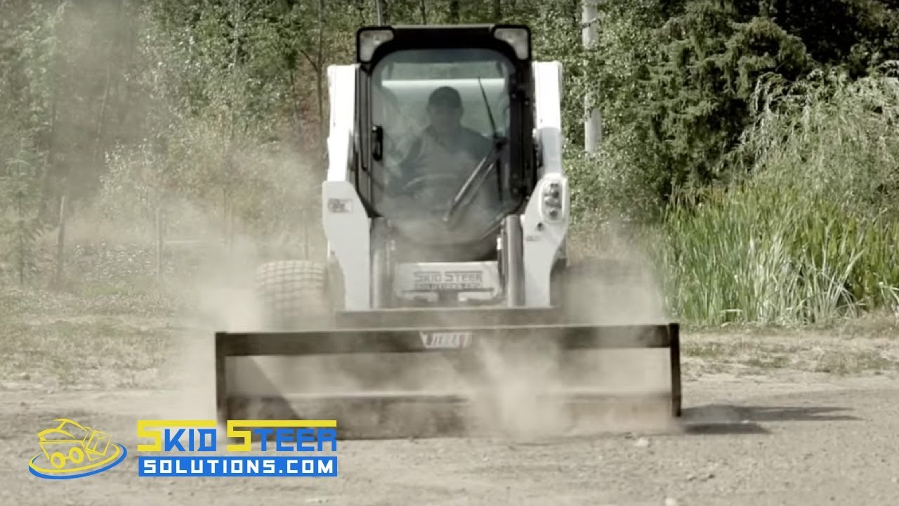 #1 Selling Box Grader Attachment for Skid Steer Loaders - Demonstration