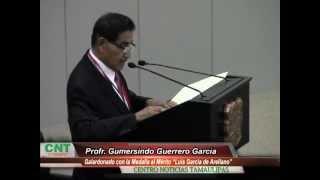 Galardona Congreso del Estado al Profr. Gumersindo Guerrero