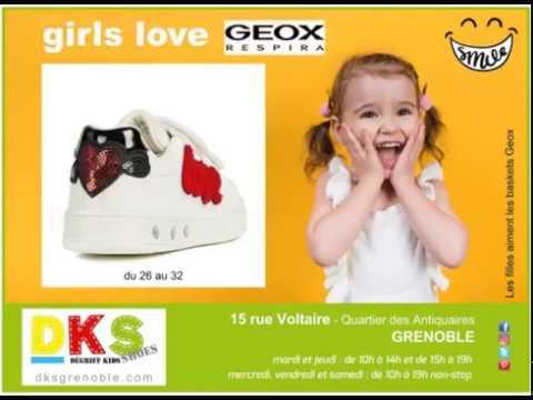 e597ac57b46d6 Baskets fille GEOX à Grenoble - YouTube