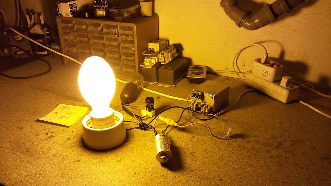 Natriumdampflampe zünden (mit Schaltplan) - YouTube