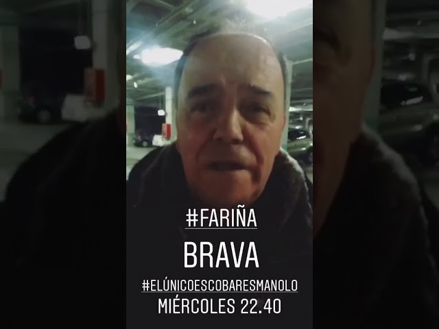"""Cañita Brava promociona 'Fariña': """"O único Escobar é Manolo'"""