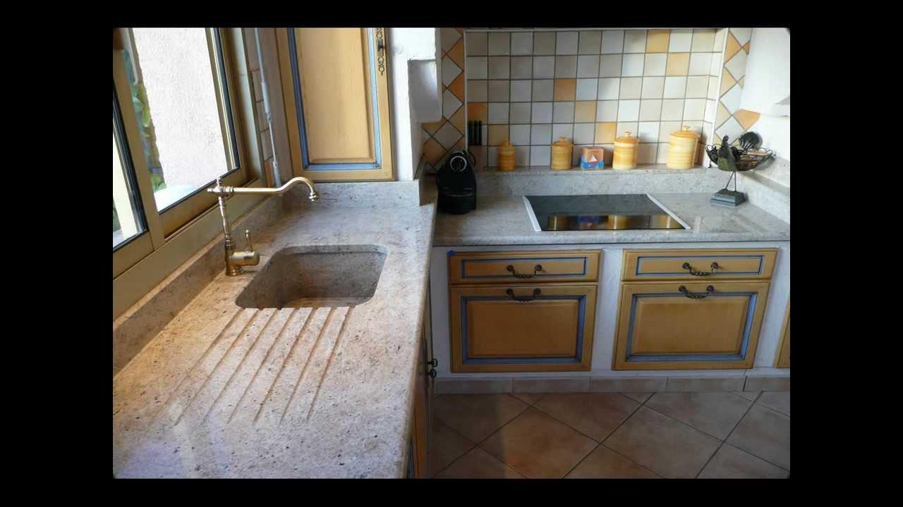 24 kitchen sink lighting plan de travail granit avec cuve massive - youtube