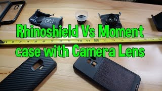 Rhinoshield Vs Moment Case with Camera Wide and Macro Lens