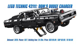 LEGO Technic 42111: Dom's Dodge Charger: Speed Build & Review [4K]