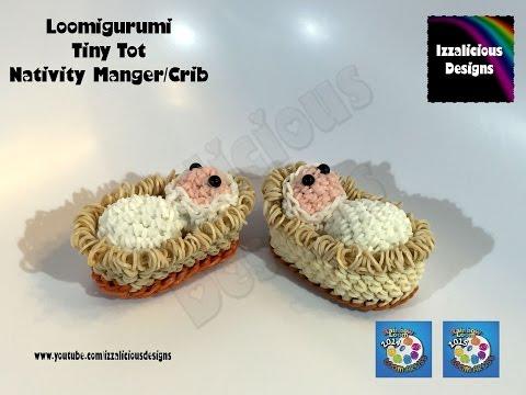 Loomigurumi Tiny Tot Nativity Manger | Crib | Basket Christmas - amigurumi w/ Rainbow Loom Bands
