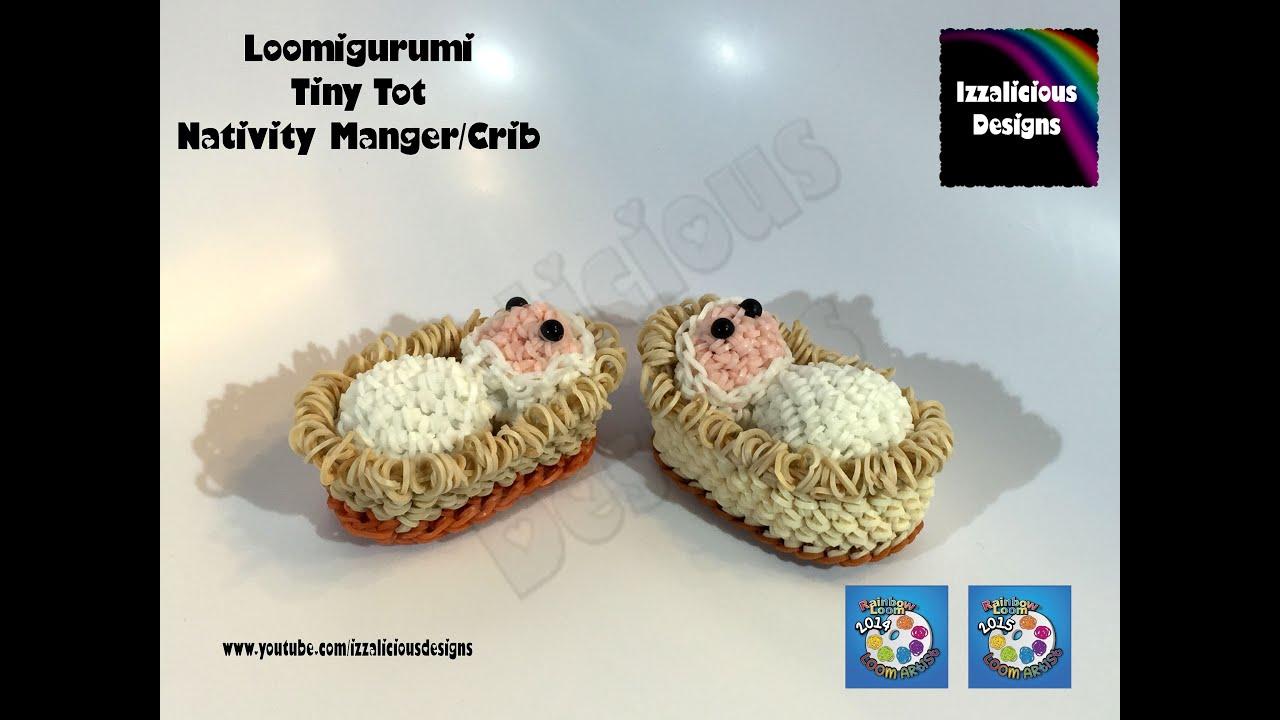 Amigurumi Nativity Español : Loomigurumi tiny tot nativity manger crib basket christmas