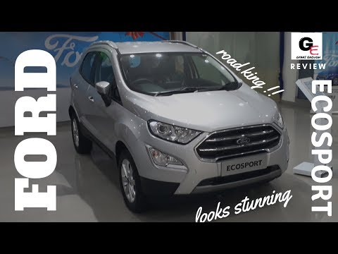 Ford Ecosport facelift Moondust Siver titanium variant | detailed walkaround review !!!