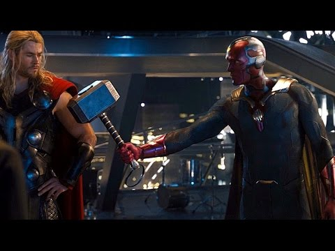 Avengers: Age of Ultron - Vision lifts Thors Hammer (Scene) Movie CLIP HD