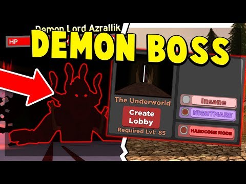 THE UNDERWORLD *NEW MAP* FIGHTING THE DEMON LORD BOSS (ROBLOX: DUNGEON QUEST UPDATE)