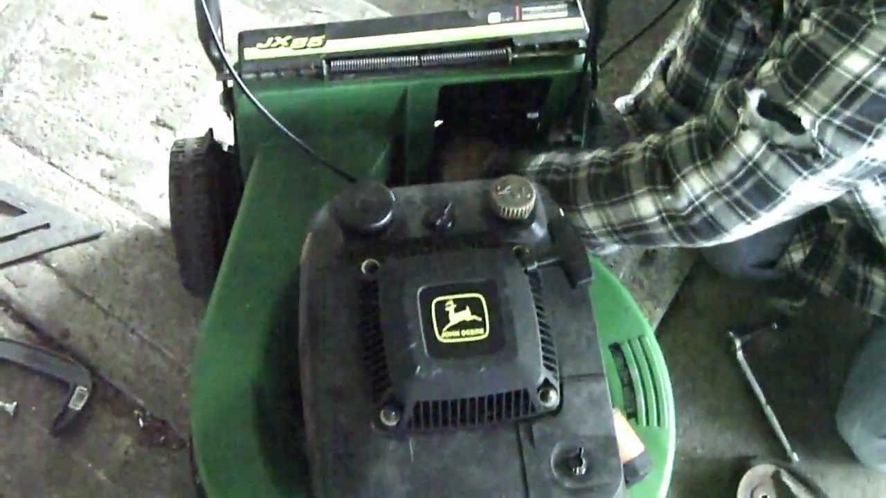 maxresdefault fixing the john deere jx85 commercial walk behind lawnmower youtube
