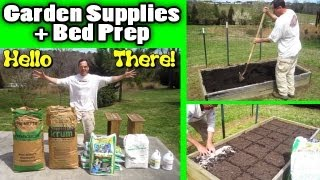 Garden Supplies And Raised Bed Prep Top Dress - How To Build Raised Bed Soil Azomite