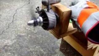 OS Wankel graupner NSU rotory engine running
